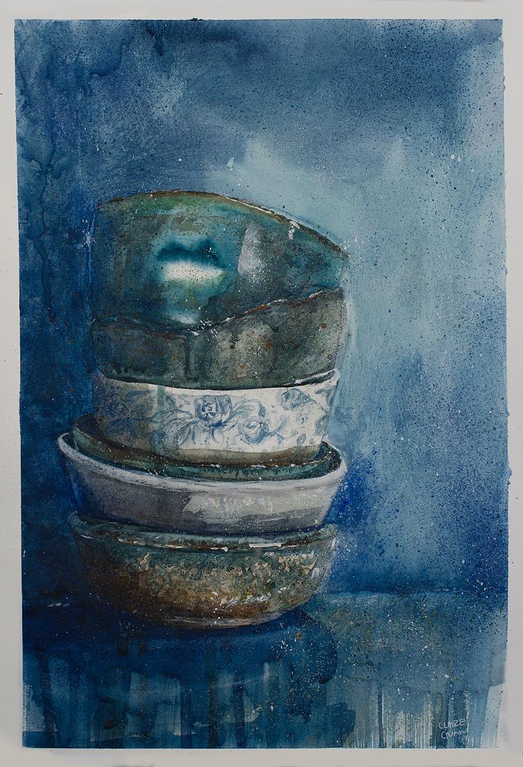 Blue bowls by Claire Gunn 2017